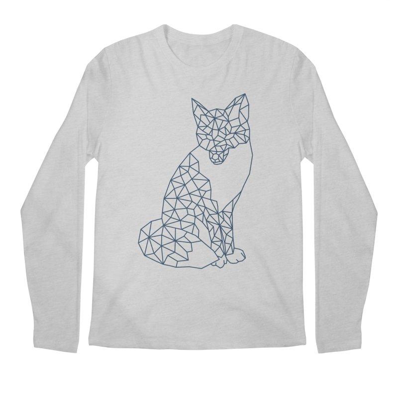 Geometric Fox Men's Regular Longsleeve T-Shirt by MackStudios's Artist Shop