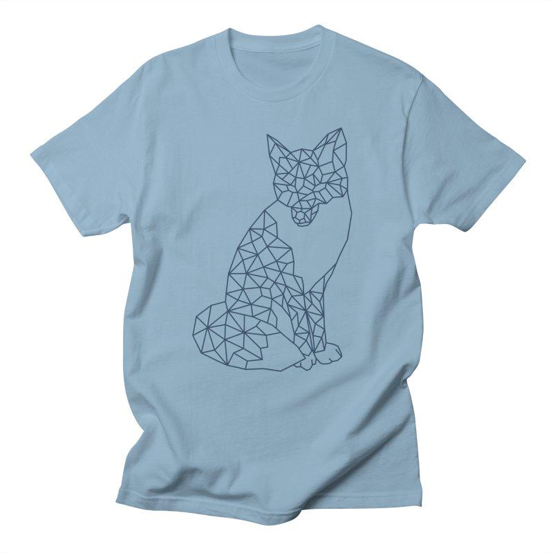 Geometric Fox Men's T-shirt by MackStudios's Artist Shop
