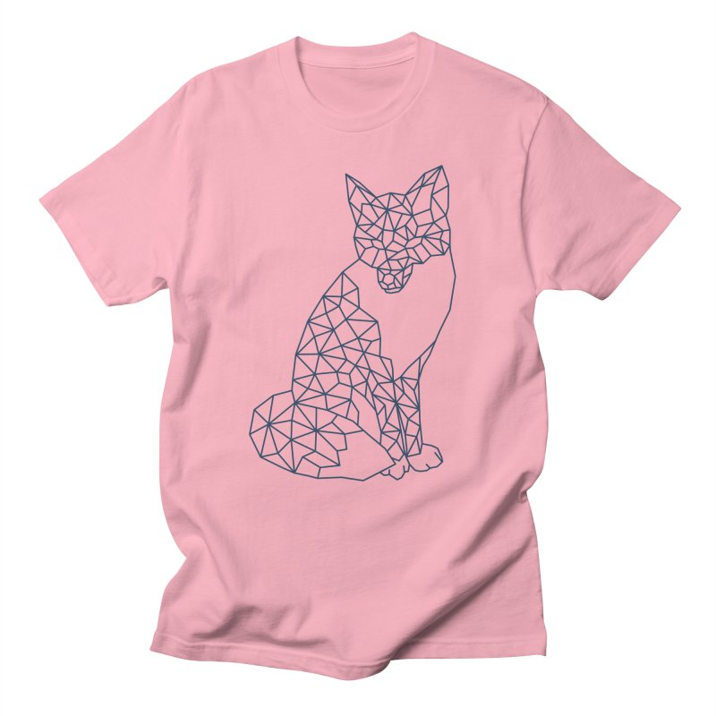 Geometric Fox in Men's Regular T-Shirt Light Pink by MackStudios's Artist Shop