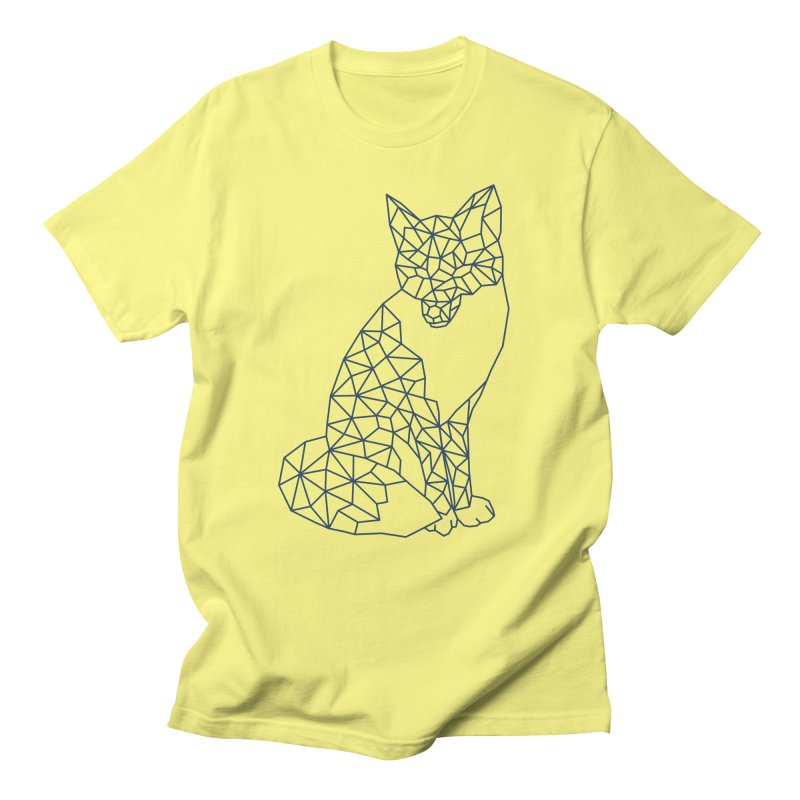 Geometric Fox Men's Regular T-Shirt by MackStudios's Artist Shop