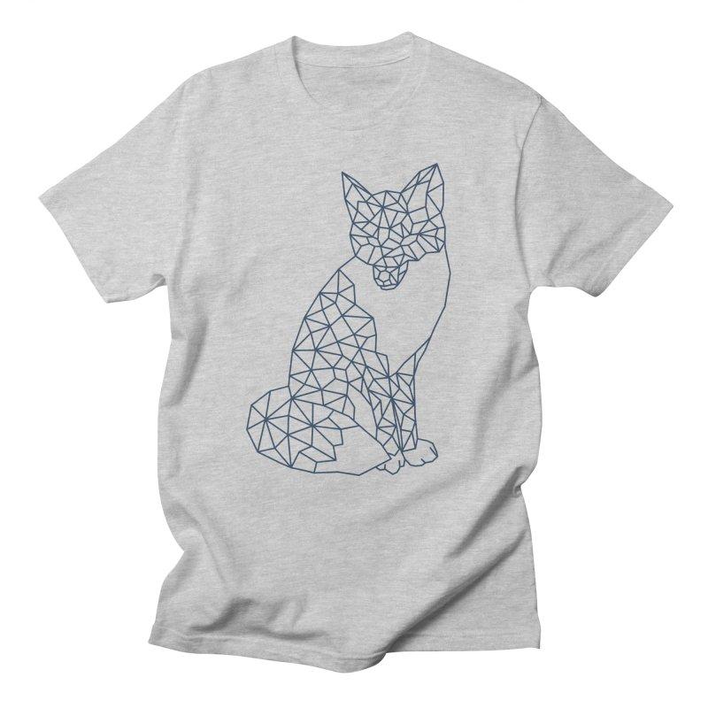 Geometric Fox Men's Regular T-Shirt by MackStudios's Artist Shop