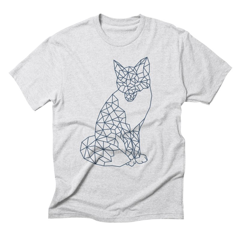 Geometric Fox Men's Triblend T-Shirt by MackStudios's Artist Shop