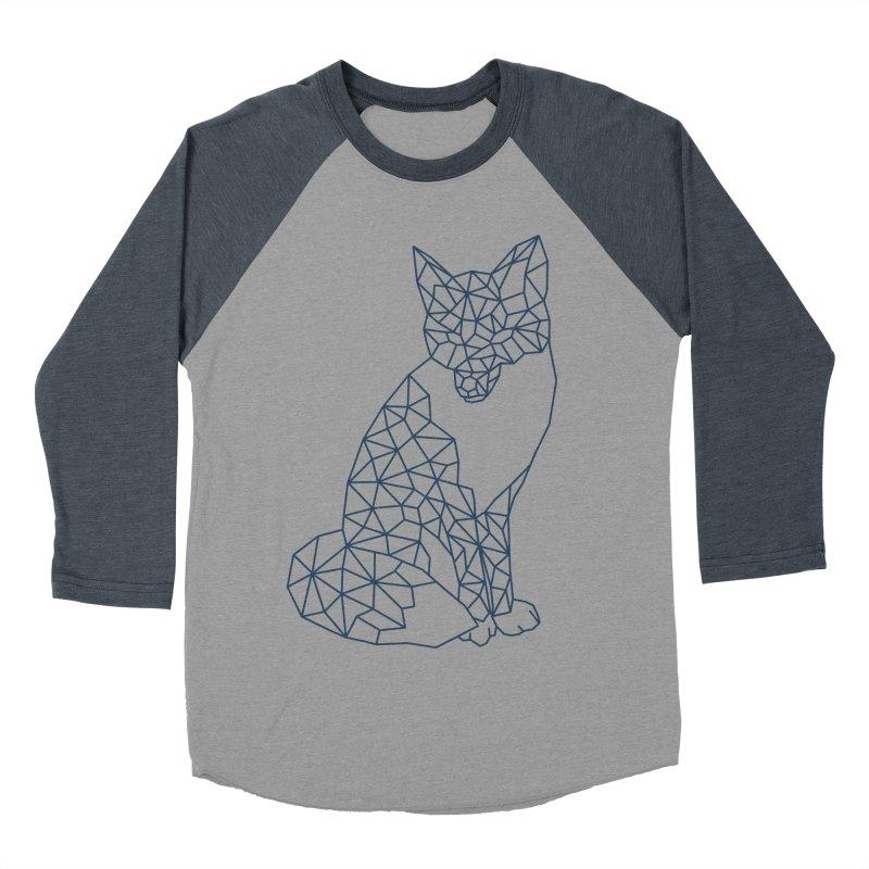 Geometric Fox Women's Baseball Triblend Longsleeve T-Shirt by MackStudios's Artist Shop