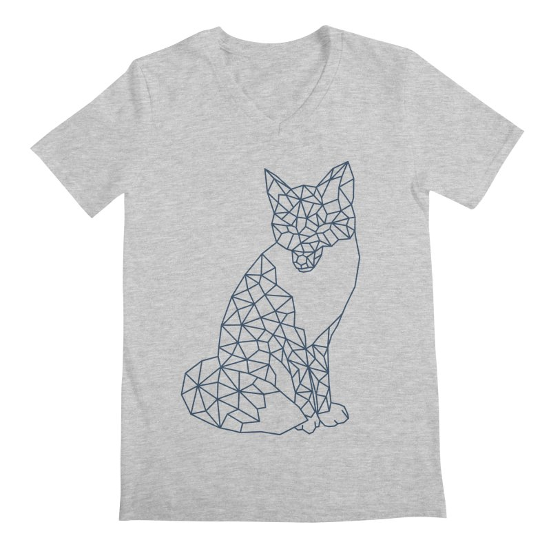 Geometric Fox Men's Regular V-Neck by MackStudios's Artist Shop