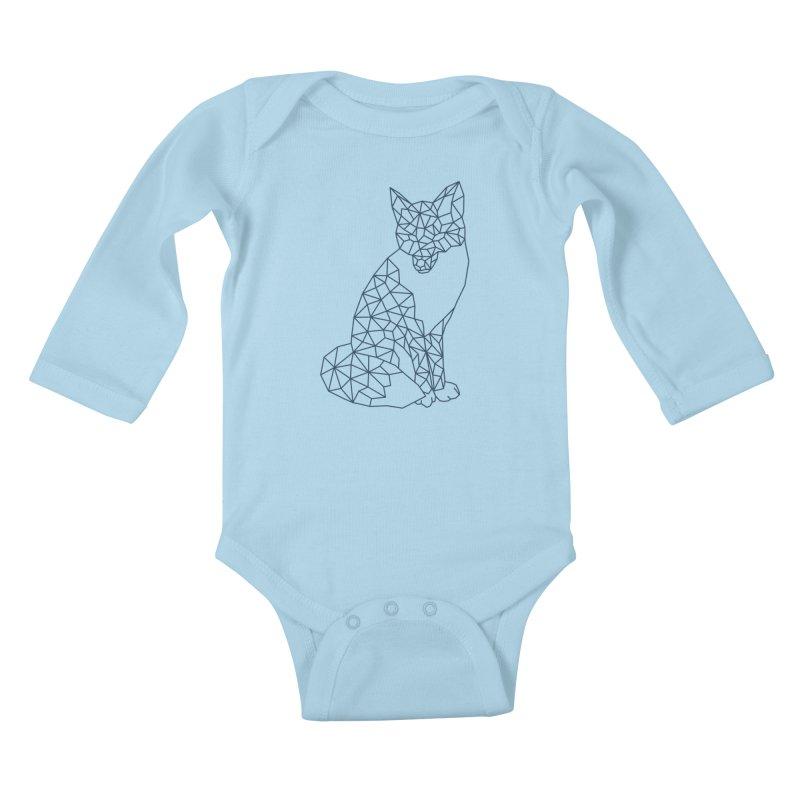 Geometric Fox Kids Baby Longsleeve Bodysuit by MackStudios's Artist Shop