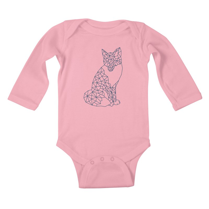 Geometric Fox Kids Baby Longsleeve Bodysuit by MackStudios's Artist Shop