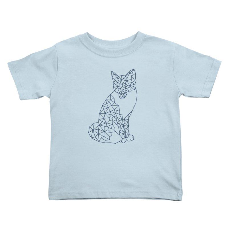 Geometric Fox Kids Toddler T-Shirt by MackStudios's Artist Shop