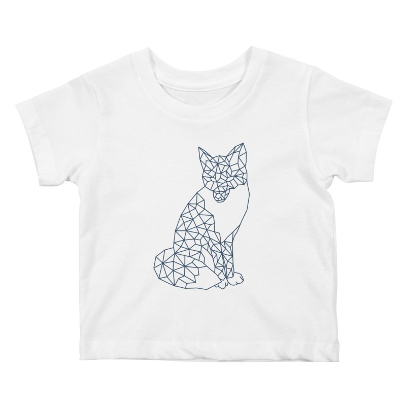 Geometric Fox Kids Baby T-Shirt by MackStudios's Artist Shop
