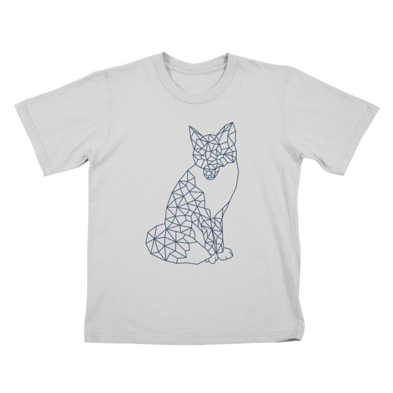 Geometric Fox Kids T-Shirt by MackStudios's Artist Shop