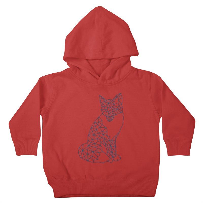 Geometric Fox Kids Toddler Pullover Hoody by MackStudios's Artist Shop