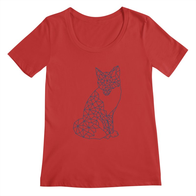 Geometric Fox Women's Regular Scoop Neck by MackStudios's Artist Shop