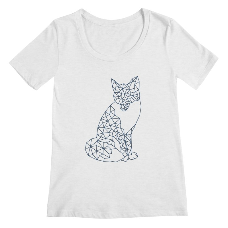 Geometric Fox Women's Scoop Neck by MackStudios's Artist Shop