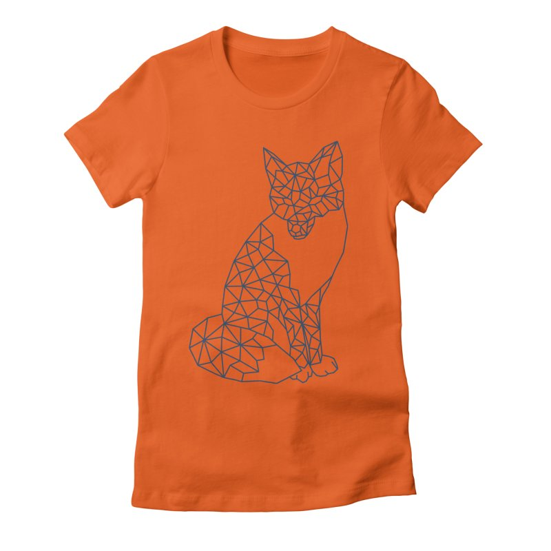 Geometric Fox Women's Fitted T-Shirt by MackStudios's Artist Shop