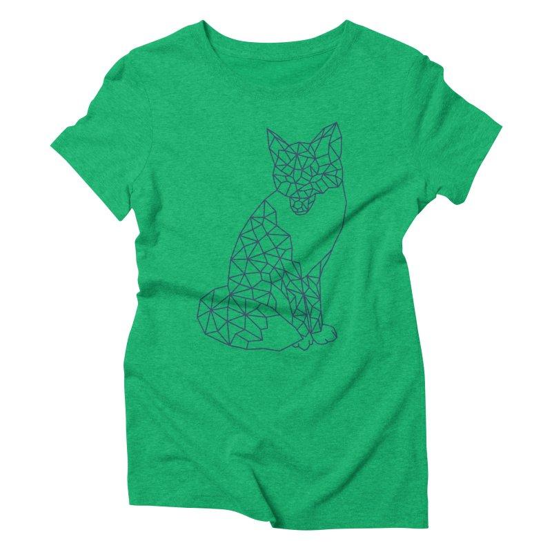 Geometric Fox Women's Triblend T-shirt by MackStudios's Artist Shop