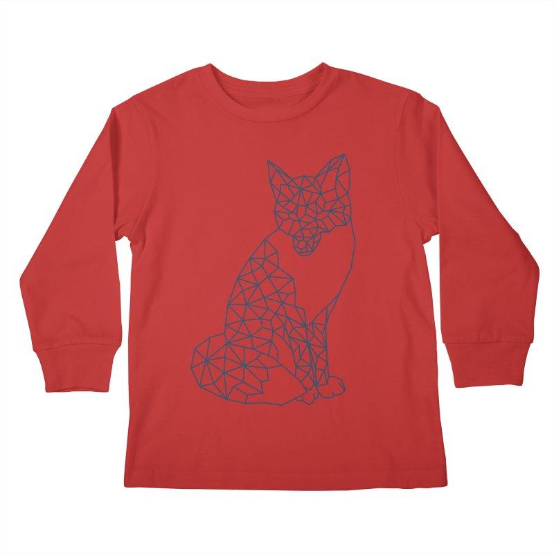 Geometric Fox Kids Longsleeve T-Shirt by MackStudios's Artist Shop