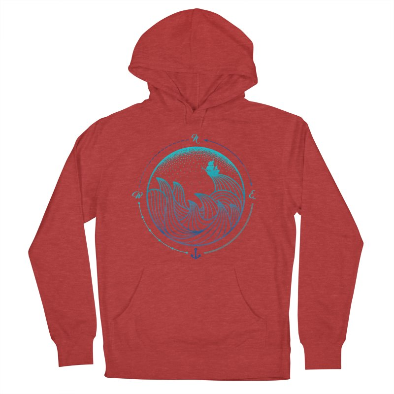 Lost At Sea Women's French Terry Pullover Hoody by MackStudios's Artist Shop