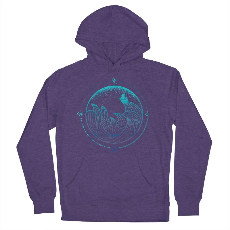 Lost At Sea Men's French Terry Pullover Hoody by MackStudios's Artist Shop