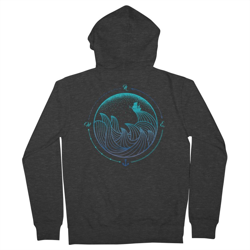 Lost At Sea Women's French Terry Zip-Up Hoody by MackStudios's Artist Shop