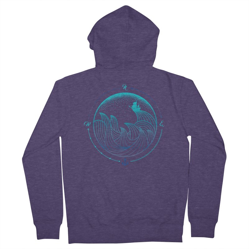 Lost At Sea Men's Zip-Up Hoody by MackStudios's Artist Shop