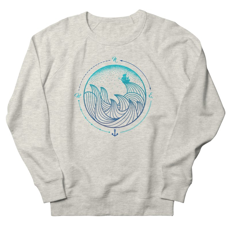 Lost At Sea Women's French Terry Sweatshirt by MackStudios's Artist Shop