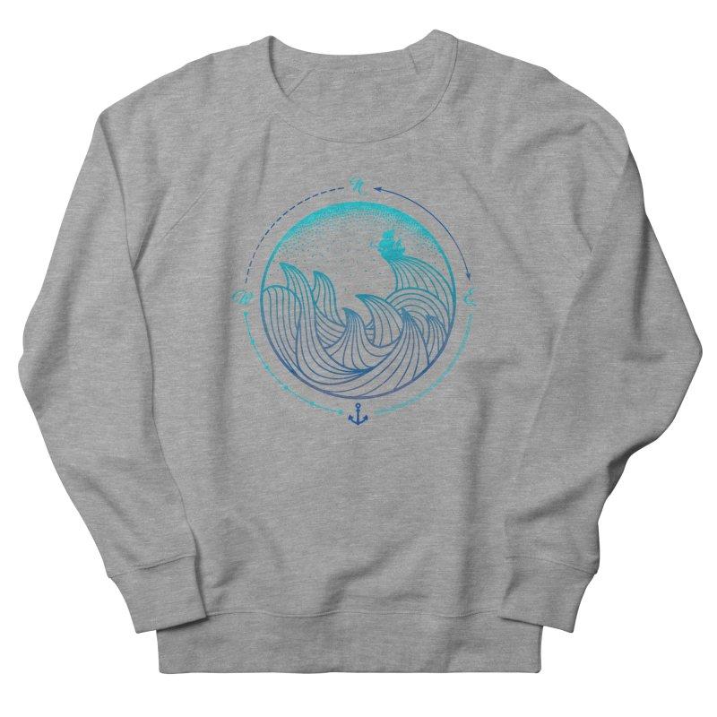 Lost At Sea Men's French Terry Sweatshirt by MackStudios's Artist Shop