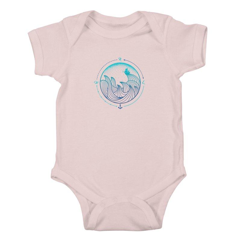Lost At Sea Kids Baby Bodysuit by MackStudios's Artist Shop