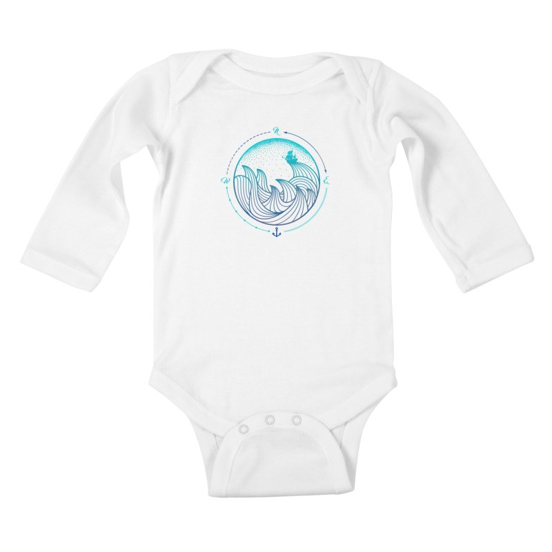 Lost At Sea Kids Baby Longsleeve Bodysuit by MackStudios's Artist Shop