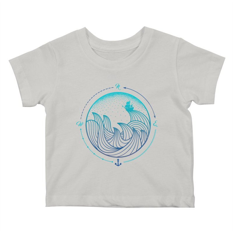 Lost At Sea Kids Baby T-Shirt by MackStudios's Artist Shop