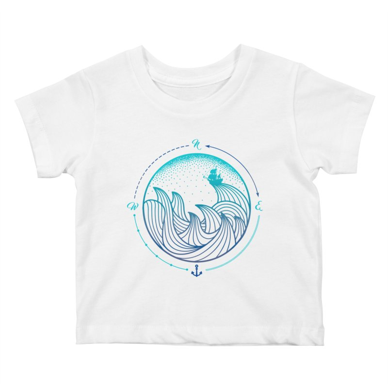 Lost At Sea Kids Baby T-Shirt by MackStudios's Artist Shop
