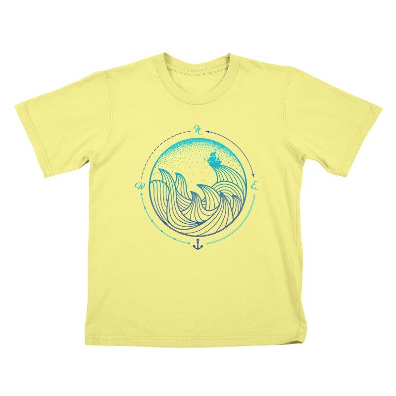 Lost At Sea Kids T-shirt by MackStudios's Artist Shop