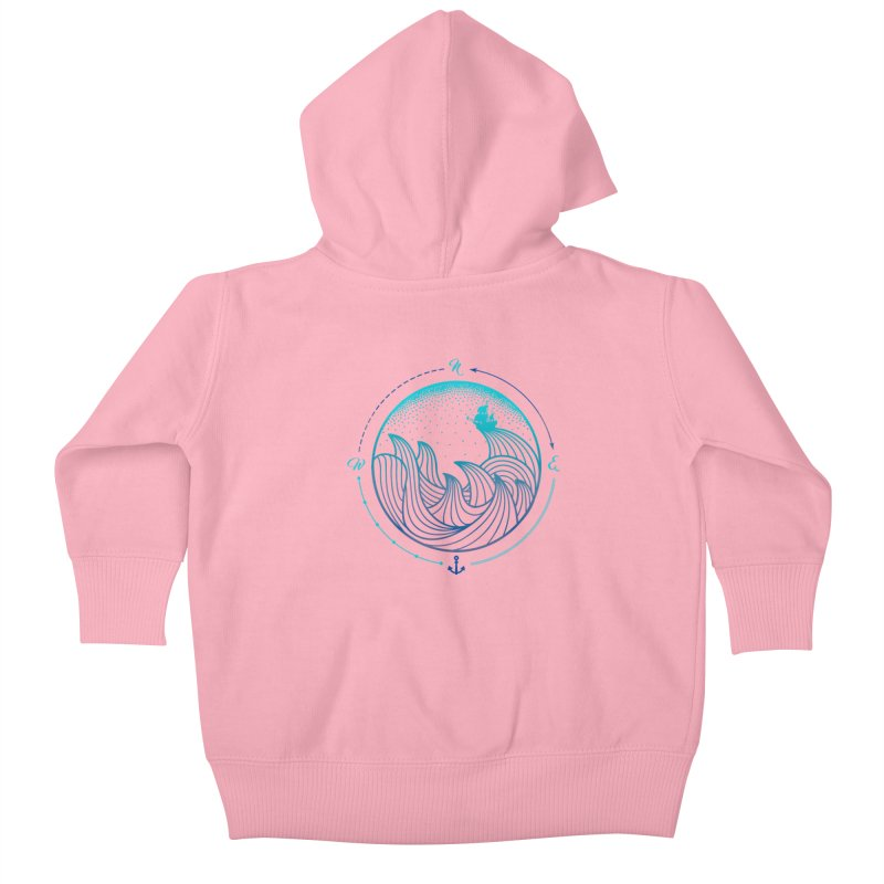 Lost At Sea Kids Baby Zip-Up Hoody by MackStudios's Artist Shop