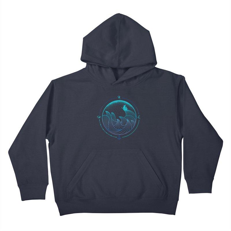 Lost At Sea Kids Pullover Hoody by MackStudios's Artist Shop