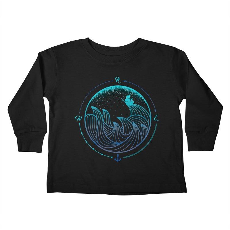Lost At Sea Kids Toddler Longsleeve T-Shirt by MackStudios's Artist Shop