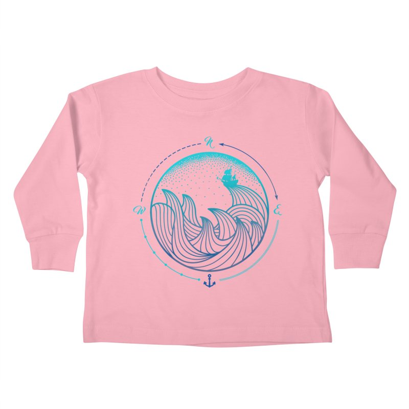 Lost At Sea Kids Toddler Longsleeve T-Shirt by MackStudios's Artist Shop