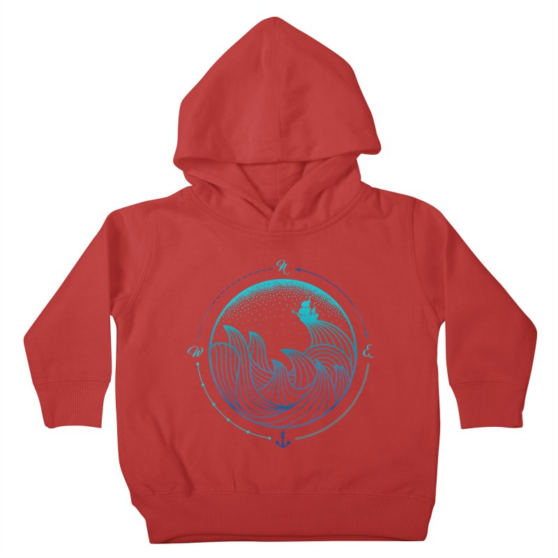 Lost At Sea Kids Toddler Pullover Hoody by MackStudios's Artist Shop