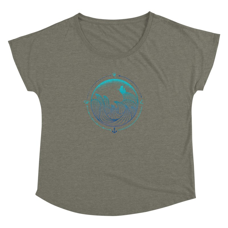 Lost At Sea Women's Dolman Scoop Neck by MackStudios's Artist Shop