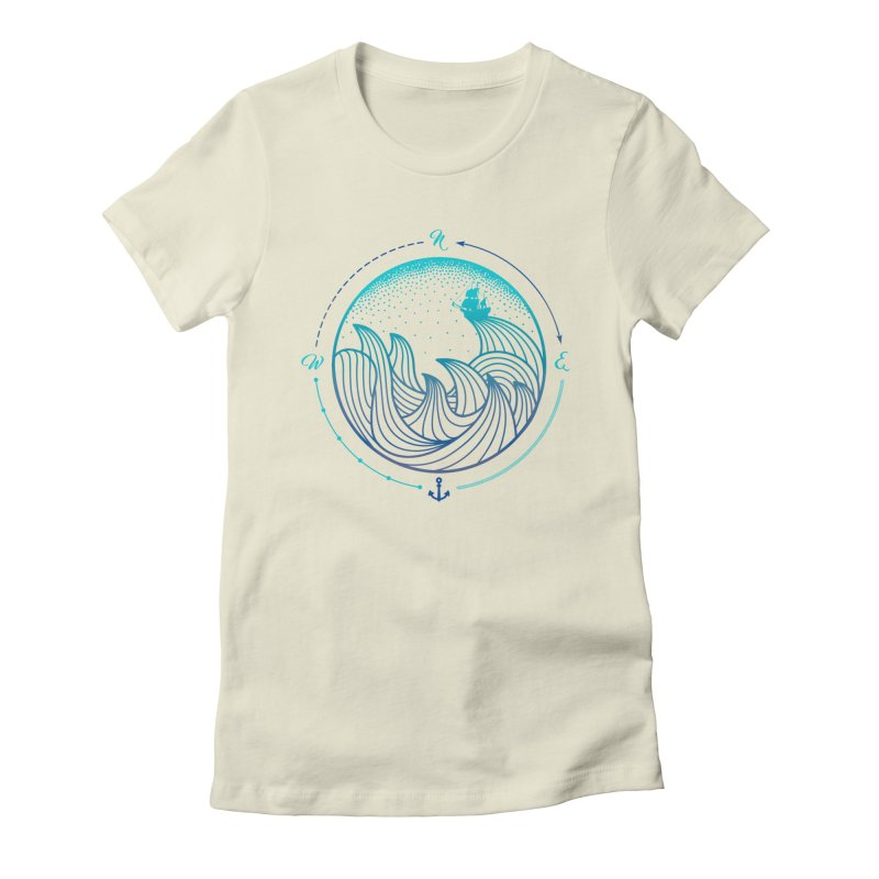 Lost At Sea Women's Fitted T-Shirt by MackStudios's Artist Shop