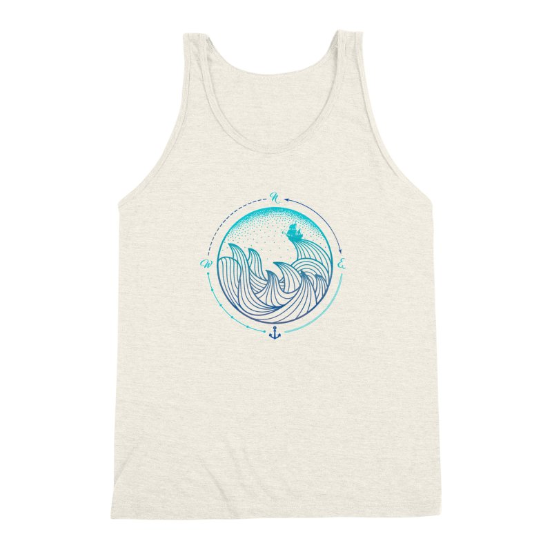 Lost At Sea Men's Triblend Tank by MackStudios's Artist Shop