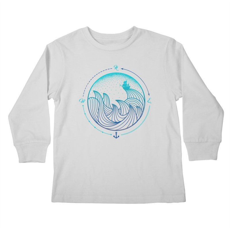 Lost At Sea Kids Longsleeve T-Shirt by MackStudios's Artist Shop