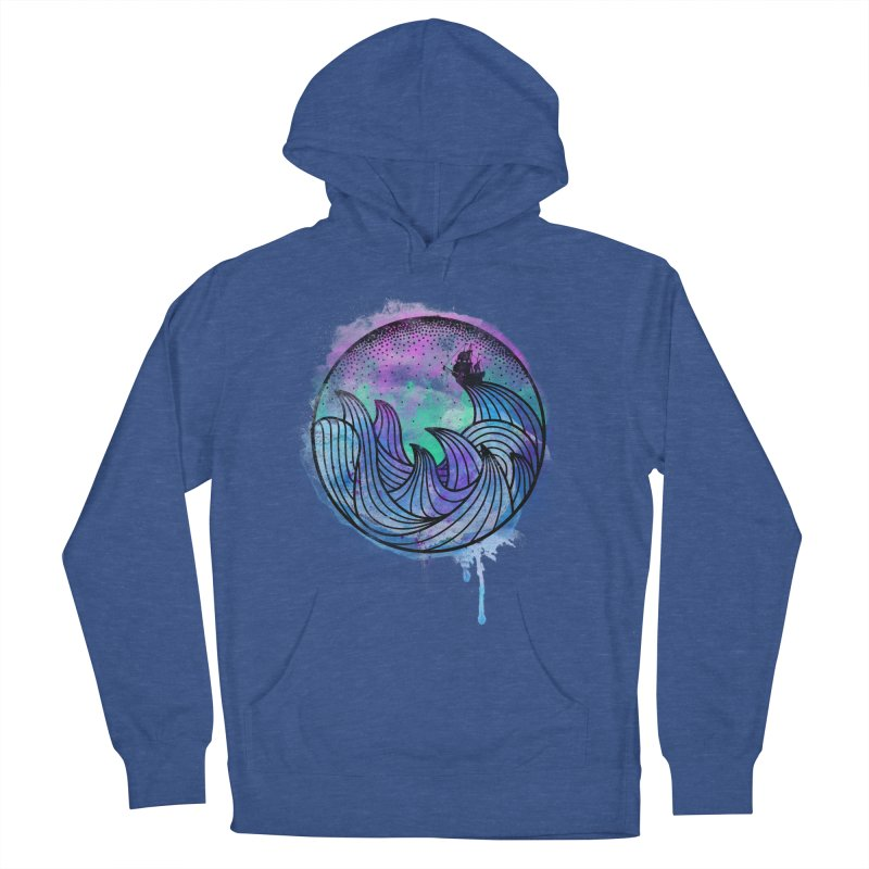 Watercolor Lost At Sea Women's French Terry Pullover Hoody by MackStudios's Artist Shop