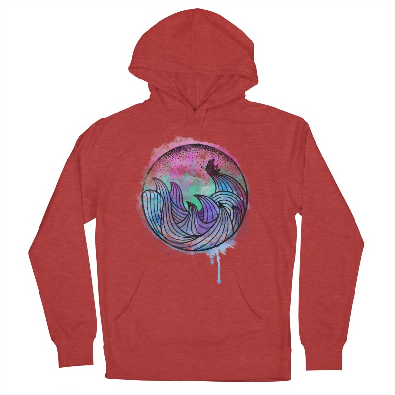 Watercolor Lost At Sea Women's Pullover Hoody by MackStudios's Artist Shop