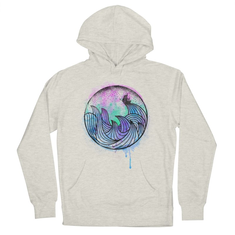 Watercolor Lost At Sea Men's French Terry Pullover Hoody by MackStudios's Artist Shop