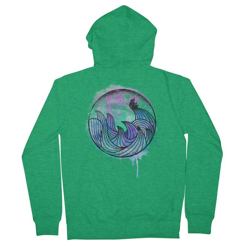Watercolor Lost At Sea Women's French Terry Zip-Up Hoody by MackStudios's Artist Shop