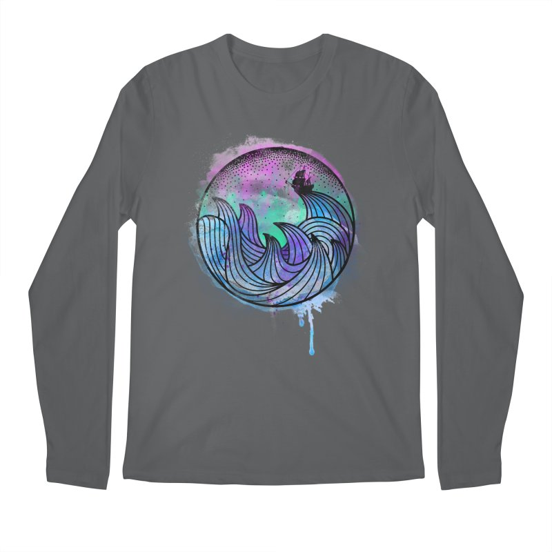 Watercolor Lost At Sea Men's Regular Longsleeve T-Shirt by MackStudios's Artist Shop
