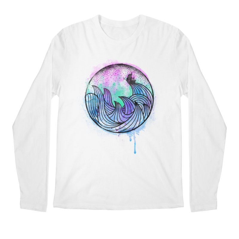Watercolor Lost At Sea Men's Longsleeve T-Shirt by MackStudios's Artist Shop
