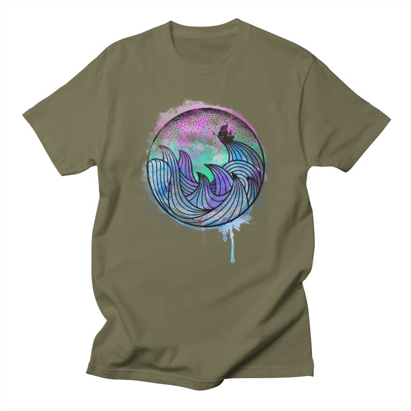 Watercolor Lost At Sea Men's Regular T-Shirt by MackStudios's Artist Shop