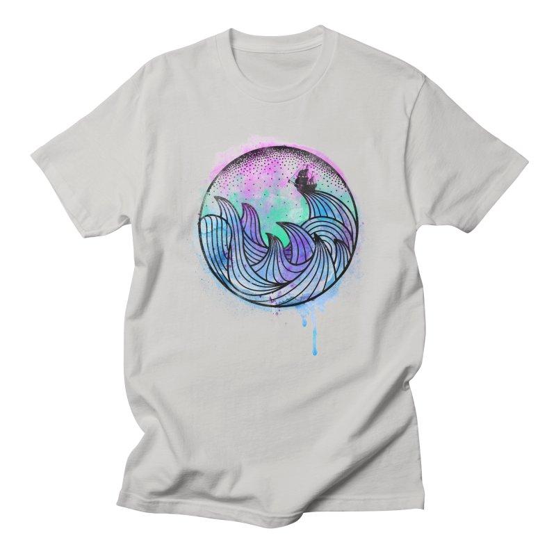 Watercolor Lost At Sea Men's Regular T-Shirt by MackStudios's Artist Shop