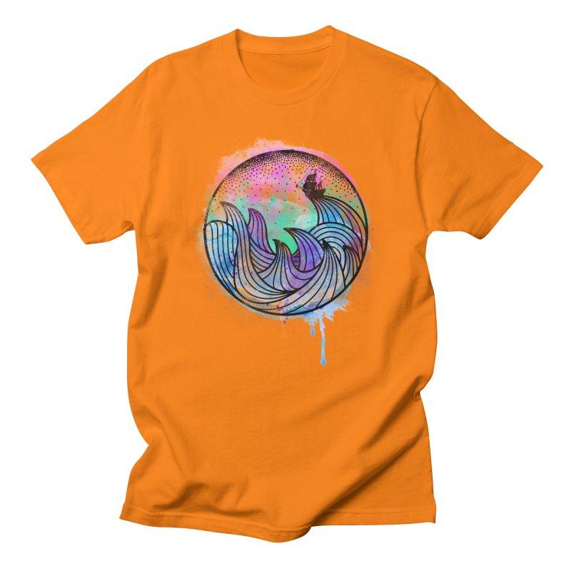 Watercolor Lost At Sea Men's T-shirt by MackStudios's Artist Shop