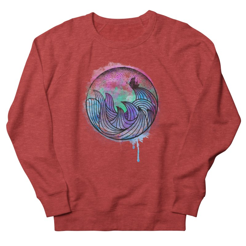 Watercolor Lost At Sea Women's French Terry Sweatshirt by MackStudios's Artist Shop