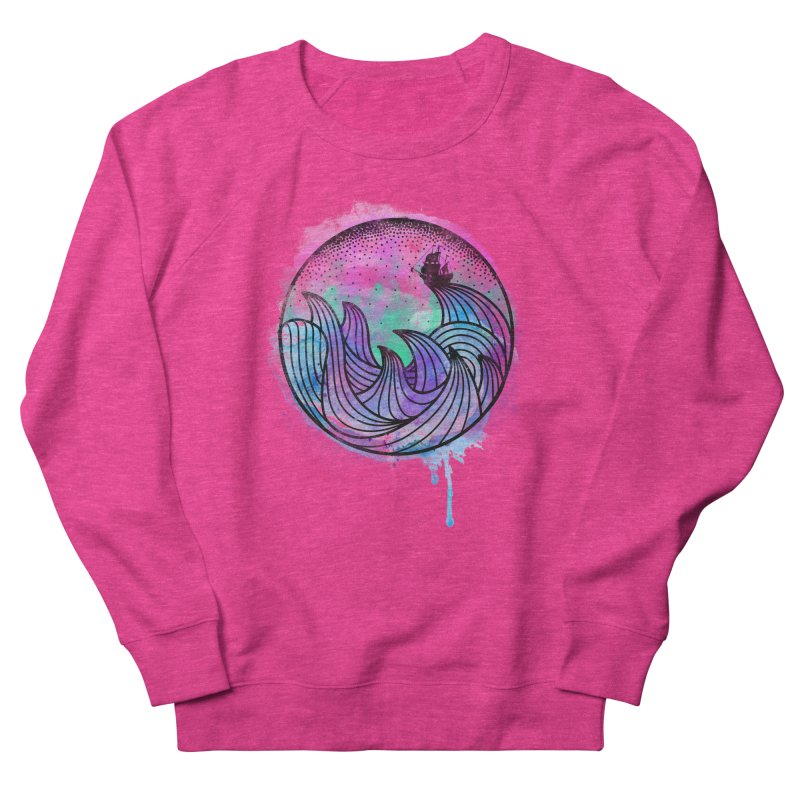 Watercolor Lost At Sea Women's French Terry Sweatshirt by MackStudios's Artist Shop